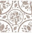 seamless tree pattern 05 grunge vector image