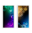 Banners with Colorful Gears vector image