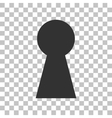 Keyhole sign  Dark gray icon on vector image