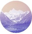Striped mountain landscape vector image