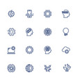 artificial intelligence related icons vector image