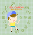back to school education info graphic vector image