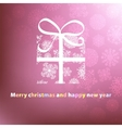 Christmas card template design EPS8 vector image