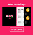 cover design for print pizza menu vector image