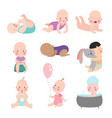 different nations baby kids infants girls and boys vector image