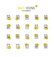 easy icons 22d database vector image