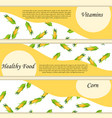high quality of corn label vector image