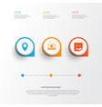Internet icons set collection of chat pin vector image