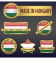 made in Hungary vector image