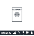 Passport line icon flat vector image