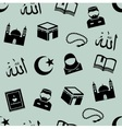seamless background with symbols of Islam vector image