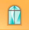 window on yellow background vector image