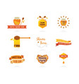 labels for Jewish new year Rosh Hashanah sweet vector image vector image