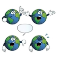 Crying Earth globe set vector image