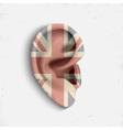 Surrealistic ear vector image vector image