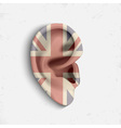 Surrealistic ear vector image