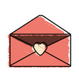 message mail romantic envelope vector image