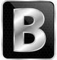 Silver typographic b vector image vector image
