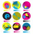 CMYK logos vector image vector image
