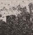 retro a city against a brick wall a vector image vector image