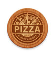 pizza restaurant label vector image