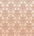 golden seamless damask pattern vector image vector image