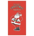 Vintage retro Christmas card Old-fashioned Santa