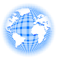 checkered pattern earth vector image vector image
