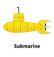 cartoon submarine vector image