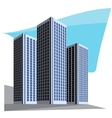 City skyscrapers vector image