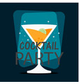 cocktail party glass of cocktail background vector image