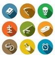 Death and burial icons set vector image