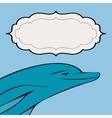Dolphin sea animal frame text vector image