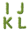 Green Grass Alphabet I J K L vector image