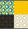 linear hexagon seamless pattern design vector image