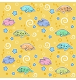 Seamless pattern with sleeping rabbits vector image