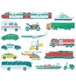 Transportation icons set City cars and vehicles vector image