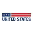 United States symbol vector image