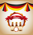 welcome oktoberfest beer festival vector image
