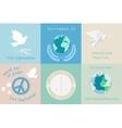 International Day of Peace design symbols vector image