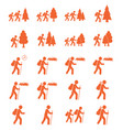 hiking icon isolated vector image
