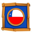 badge design for chile flag vector image vector image