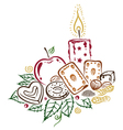 Christmas candle candy vector image vector image