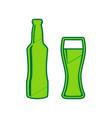 beer bottle sign  lemon scribble icon on vector image