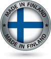 Made in Finland silver label with flag vector image vector image