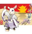rabbit chinese new year greet vector image vector image