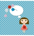 Pretty girl vector image vector image