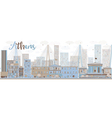 Abstract Athens Skyline with Color Buildings vector image