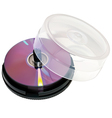 Blank dvds vector image vector image
