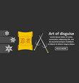 art of disguise banner horizontal concept vector image